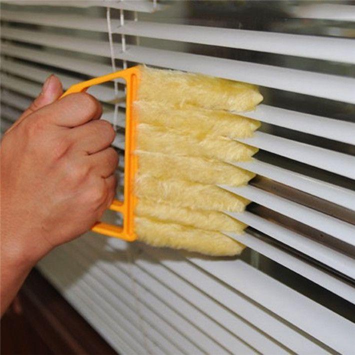 1 st Microvezel Jaloezie Borstel Venster Airconditioner Stofdoek Schoon Cleaner