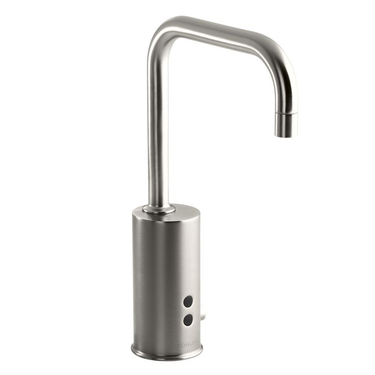 Gooseneck Single-Hole Touchless Ac-Powered Commercial Faucet with Insight Technology and Temperature Mixer
