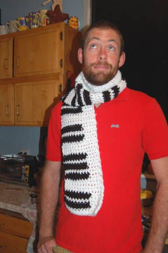 Can't play piano, but I wear one pretty well! (TUTORIAL on page 4) - CROCHET  handmade gifts for men on Craftster.org