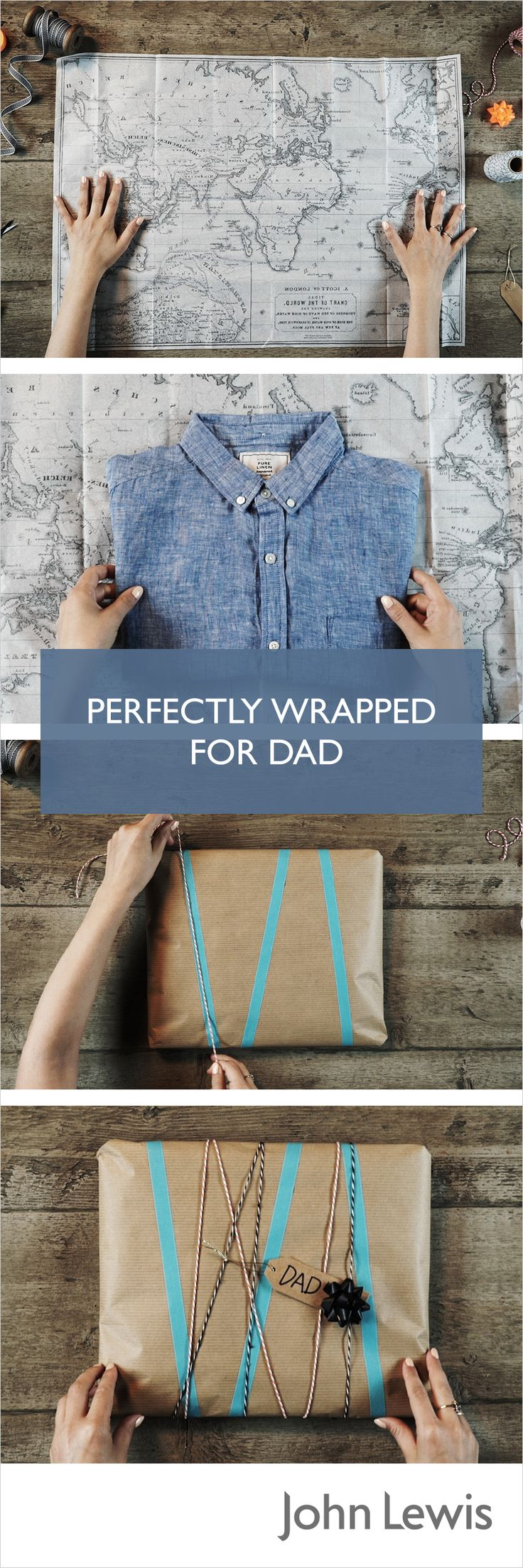 Discover fun ways to wrap your gift this Father's Day,. Use patterned tissue paper and colour tape to jazz up your wrapping.