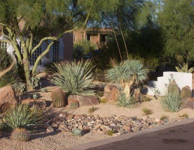 Backyard desert landscaping picture desert landscaping pinterest garden pavers backyards - Garden pathway design ideas with some natural stones trails ...