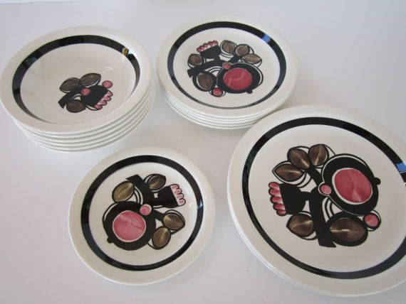 Figgjo Norway Dishes  Elvira Pattern by 20thCenturyGoods on Etsy, $68.00