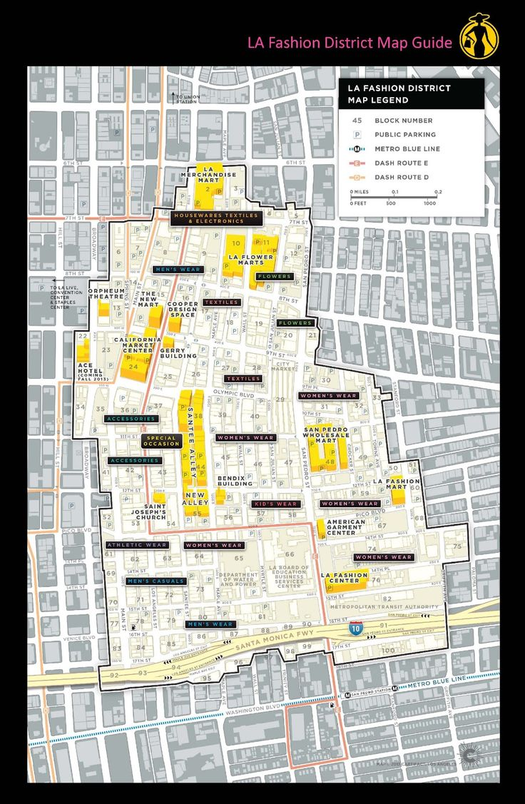 La la fashion district - La Fashion District A Map Guide To The Fashion District