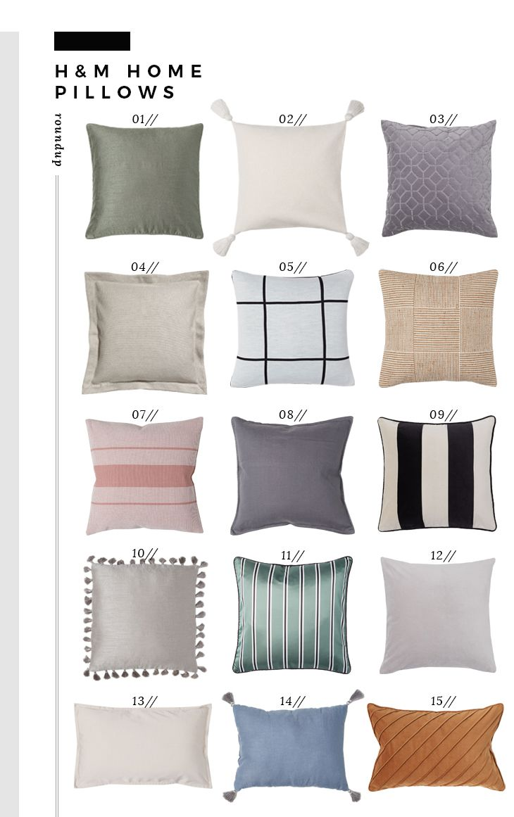 Pillows Throws You Need From H M Home Room For Tuesday