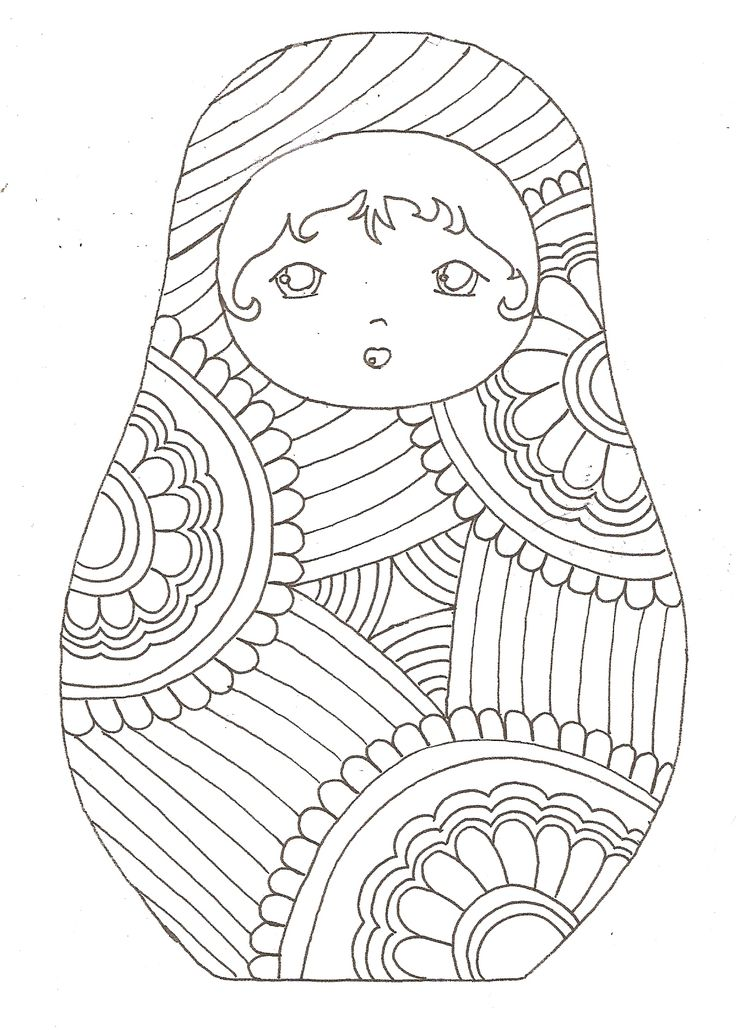 Matryoshka coloriage