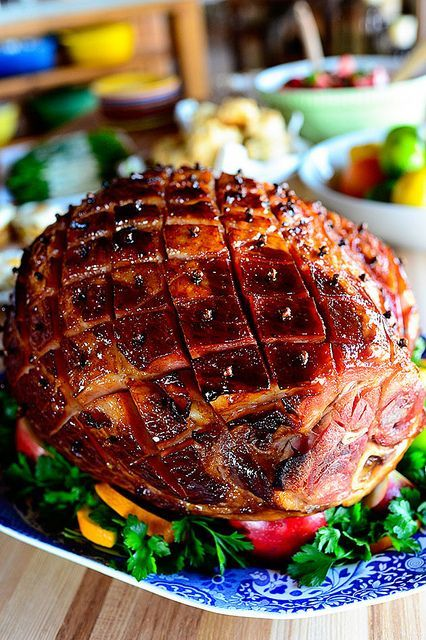 Pioneer Woman's Easter Ham with Brown Sugar, Mustard Dr. Pepper Glaze. LE YUM!