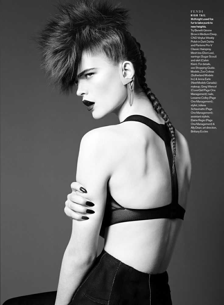 elle luxe punk5 Sam McKnight Creates Luxe Hair for Elle Canada August 2013 Beauty Shoot