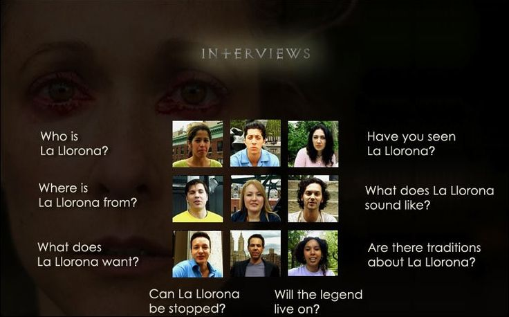 The Cry - La Llorona- great site the legend with modern day 'lloronas'