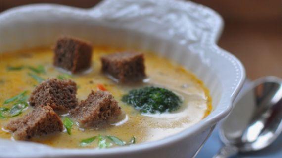 Сырный суп с брокколи и спаржей, пошаговый рецепт с фото