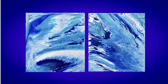 Handmade acrylic painting abstract painting wall art