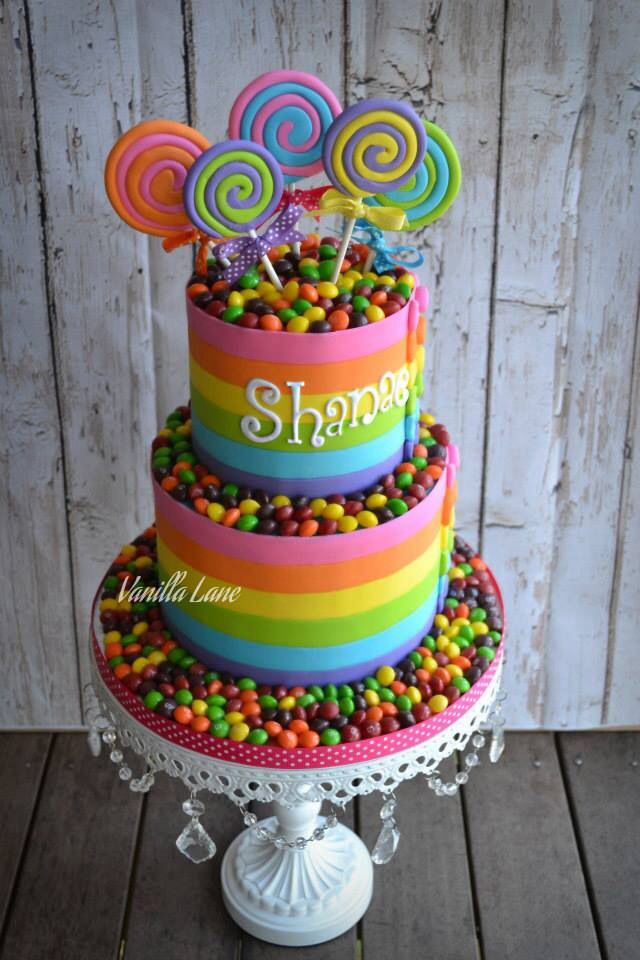 Striped Candy Cake.