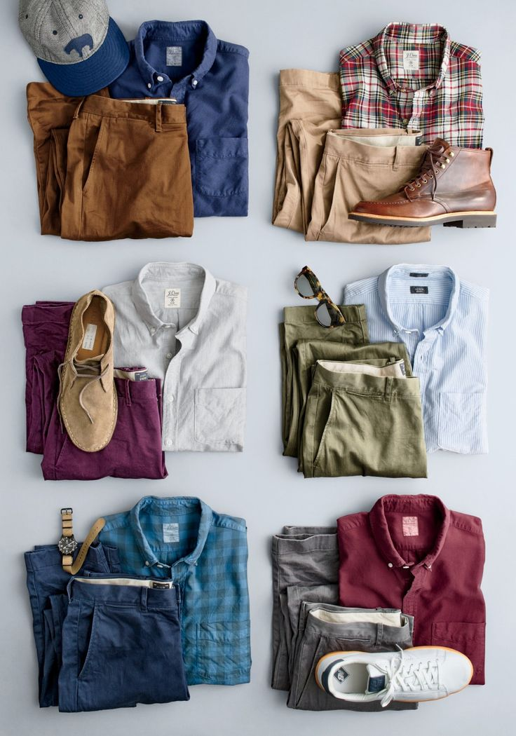 What we do at J.Crew: elevated essentials. It's time to add our stretch chinos and a washed oxford shirt to your daily phone-keys-wallet checklist.