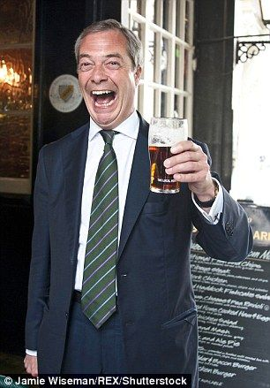 Pictured, Nigel Farage