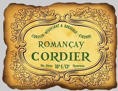 Romançay Cordier - Vin Blanc Liquoreux