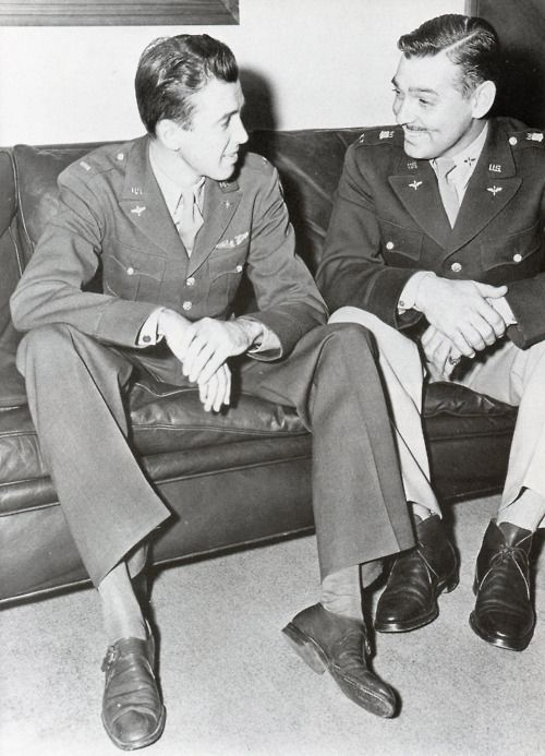 Hollywood stars Jimmy Stewart and Clark Gable both served in the US Eighth Air Force in WWII.
