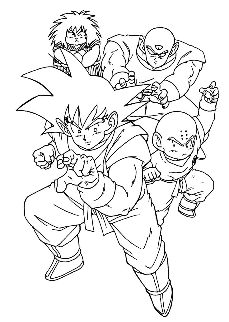 Cool Manga Dragon Ball Z Coloring Pages For Kids