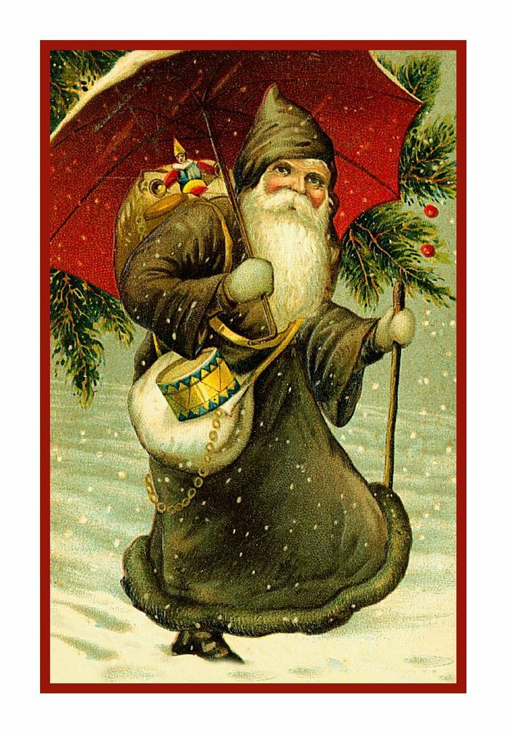 Amazon.com: Counted Cross Stitch Chart Victorian Father Christmas Santa With Toys, Drum and Umbrella: Arts, Crafts & Sewing