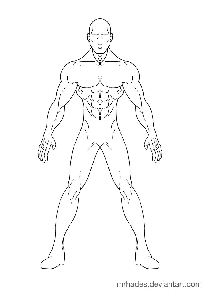 man outline drawing
