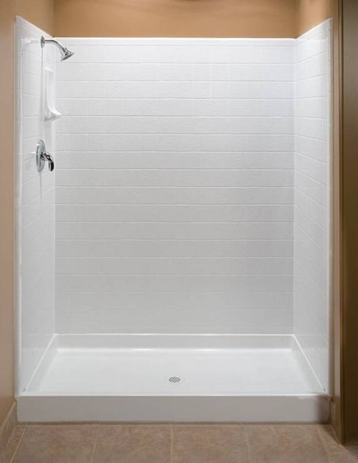 Bathroom , Bathroom Fiberglass Shower Unit : Fiberglass Shower Unit With  Soap Storage
