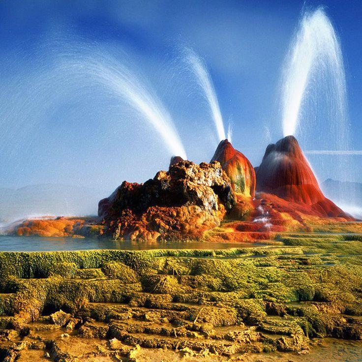 "Fly Geyser, Nevada, USA / Летающий гейзер ""Флай"", Невада, США"
