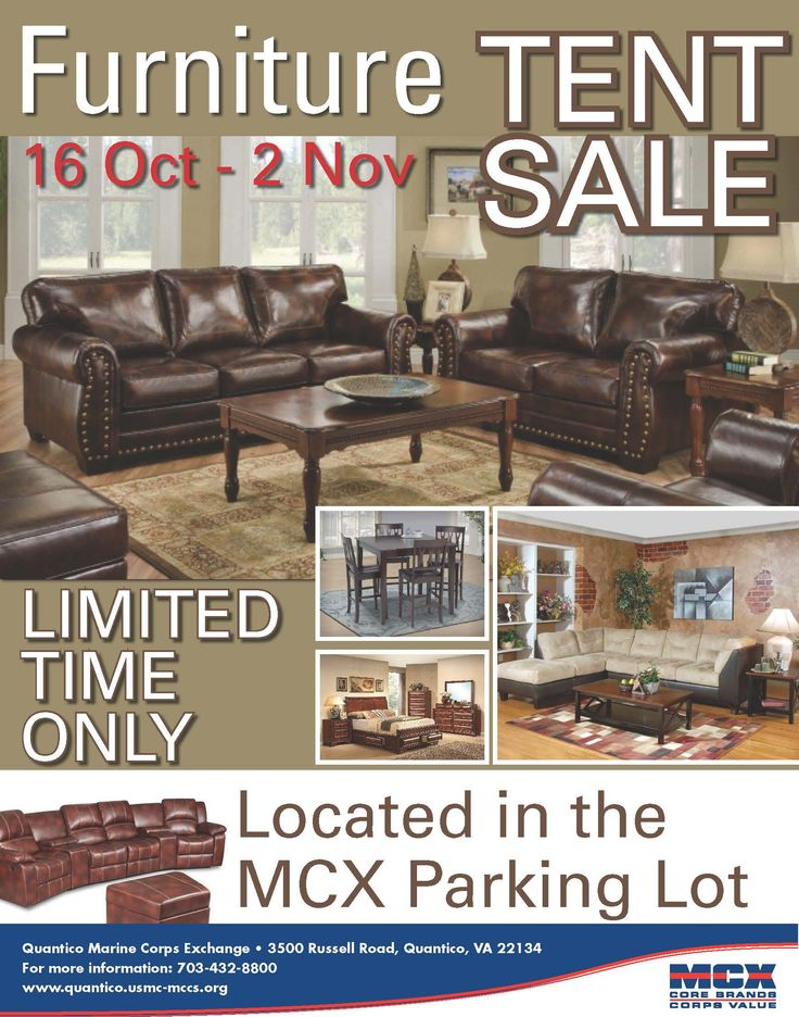 Furniture Tent Sale at the MCX! http://www.mymcx.com/index.cfm/locations/Quantico/