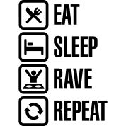 Eat sleep rave repeat T-Shirt | Spreadshirt | ID: 14019135