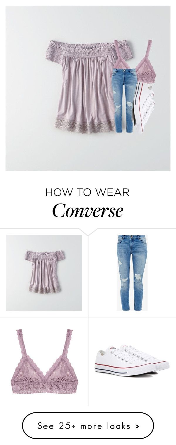 """Untitled #3375"" by laurenatria11 on Polyvore featuring American Eagle Outfitters, Hanky Panky, Ted Baker and Converse"