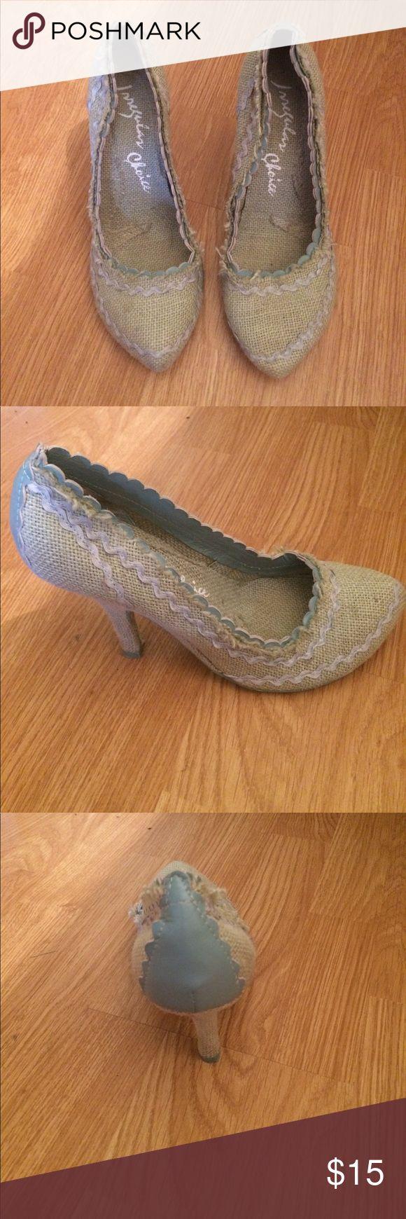 Irregular Choice Heels Used Irregular Choice Heels. Size 40. Raw Hem, scalloped trim. Signs of wear but still adorable! irregular choice Shoes Heels