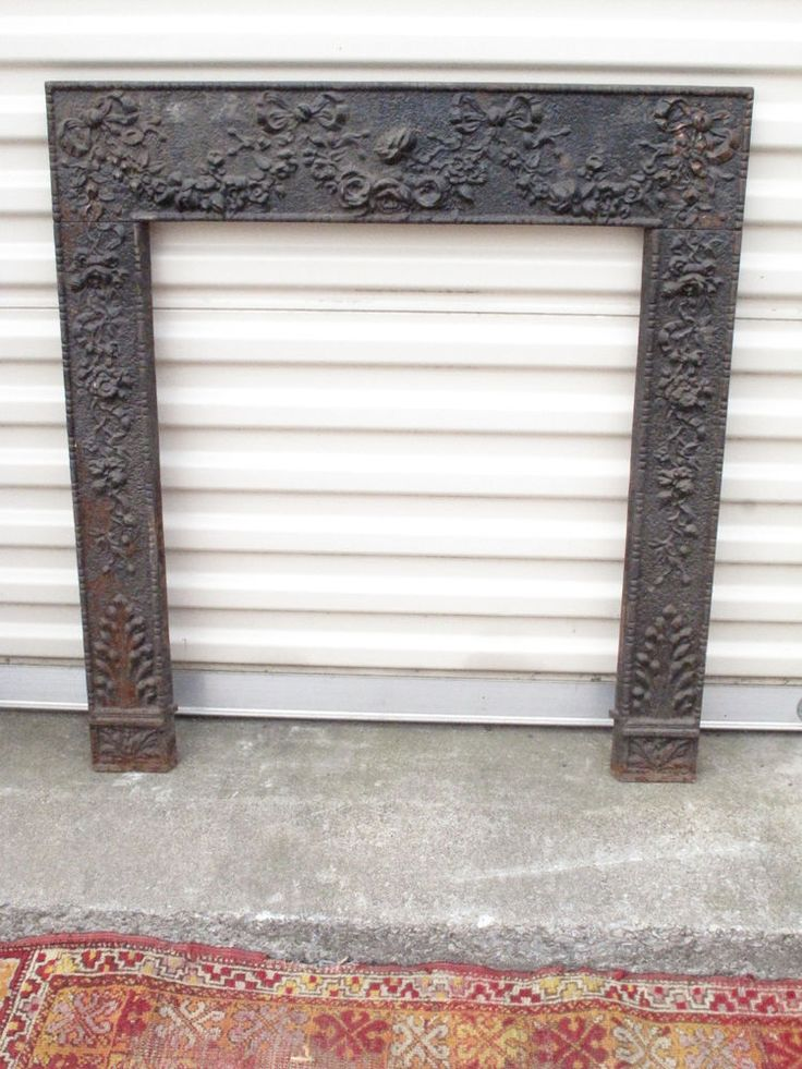 Antique Victorian Cast Iron Fireplace Surround Ornate