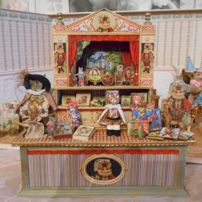 Best Dollhouse Wallpaper Paste: 310 Best Images About Toy Theaters On Pinterest