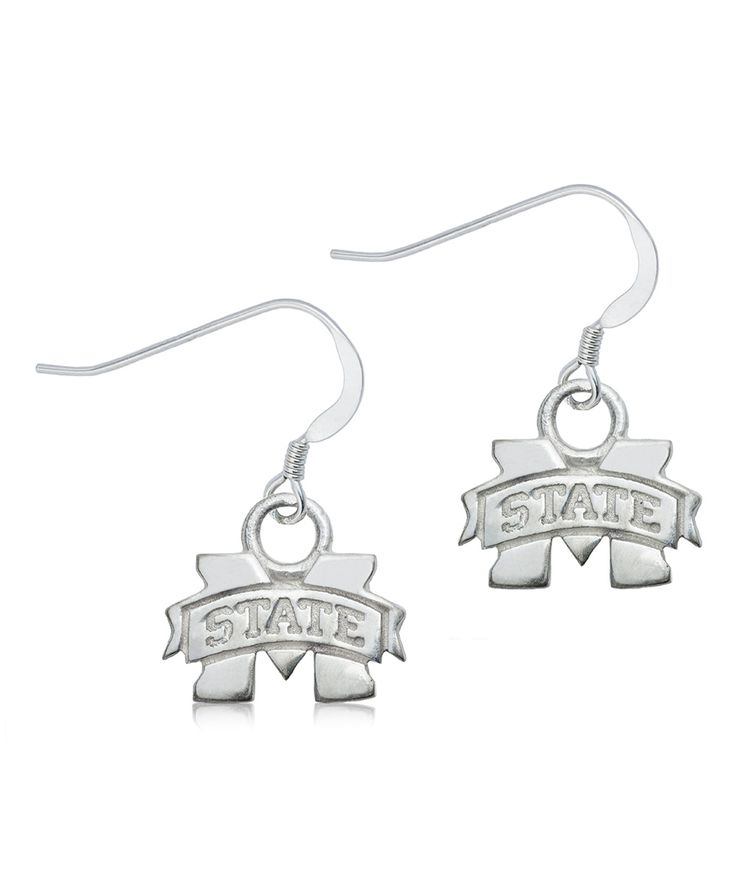 Mississippi State Bulldogs Sterling Silver Dangle Earrings