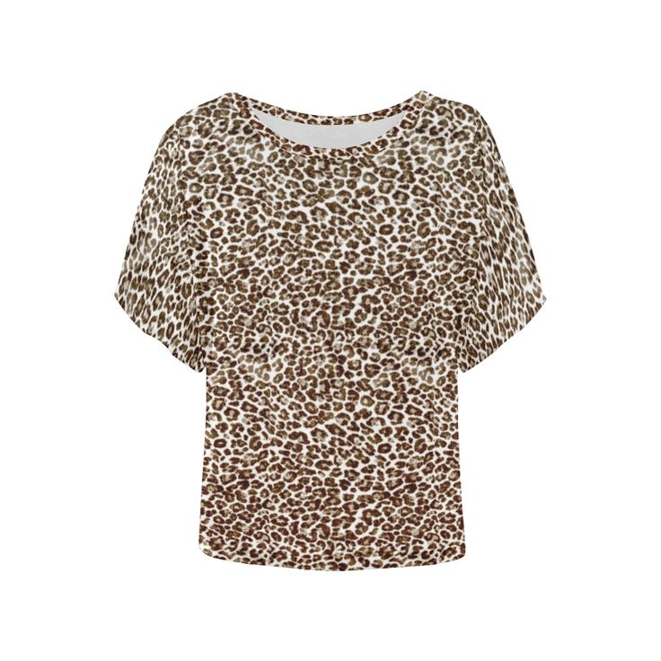 Snow Leopard Women's Batwing-Sleeved Blouse T shirt (Model T43)