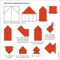 tutorial membuat origami ikan