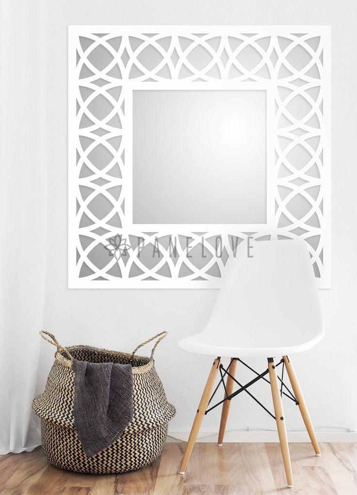 Ażurowa kwadratowa rama (panel) do lustra o wymiarze 100x100cm