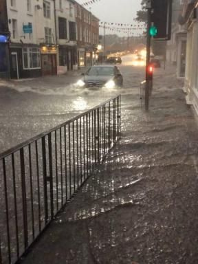York Press: The scene in Tadcaster on Friday night, captured by local resident Jacob Smyth