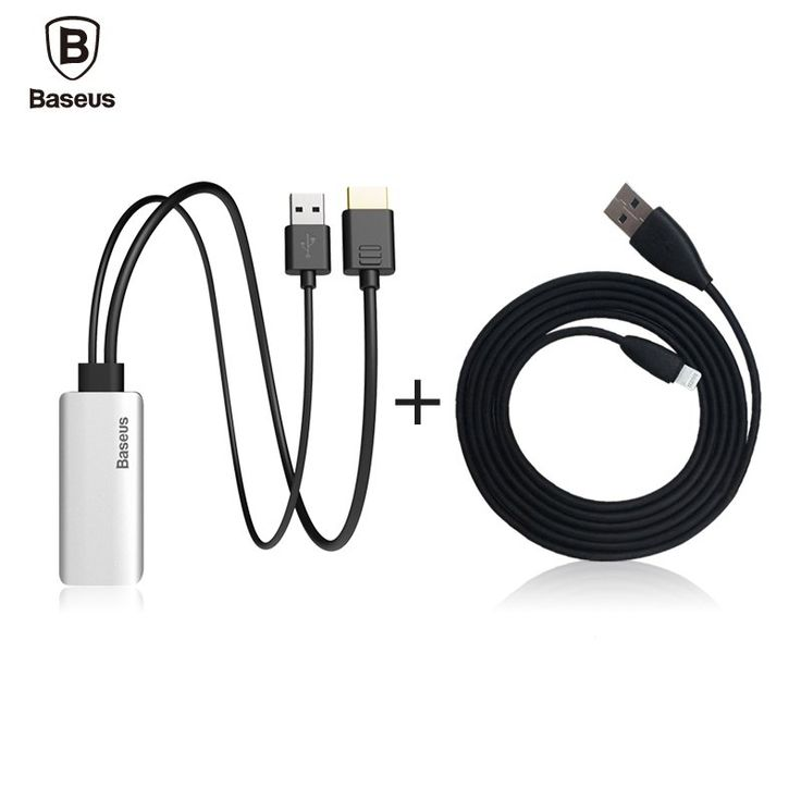 Baseus HD Display Adapter Audio Aux Cable For Lightning Male To Male HDMI 1080P For iPhone 7 6 IOS 10 9 TV Computer Projector