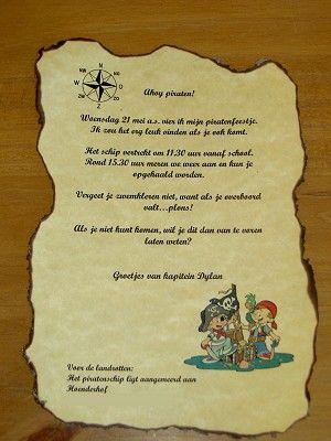 Piraten uitnodiging