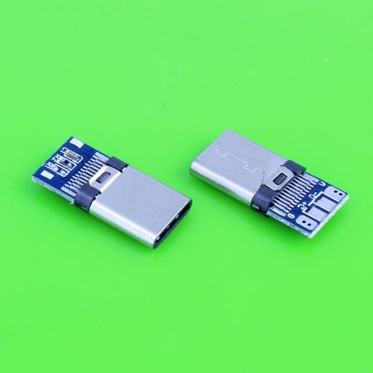 2pcs 24pin USB-C USB 3.1 Type C Male Plug Connector Welding Type #Affiliate