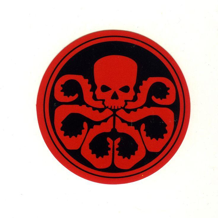 1625 hydra avengers logo width 8 cm decal sticker