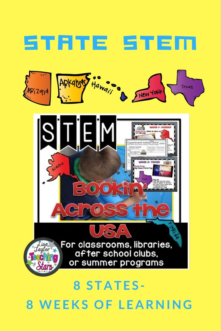 STEM Summer Challenges Bookin' Across the USA Bundle is a packet of plans and activities for 8 Different State Challenges. Students will love learning about the different states as they explore, create, and engage in state themed activities. This product is great for classrooms, libraries, Maker Spaces, after school clubs, or summer programs! This packet contains suggestions for 8 different states with 5 different activities, along with activities that stay the same each time.