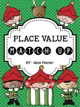 Place Value Match Up activity.This freebie would be great to use in a math center.Students have to match two digit numbers to base ten blocks, tally marks, ten frames or words.If you like this freebie, you might like my Christmas Place Value Solve the RoomTake An Elfie