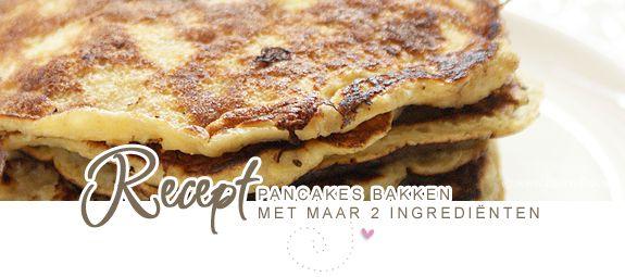 pannekoeken 2 ingrediénten: 1 banaan en 2 eieren, mixen, bakken en smullen maar...