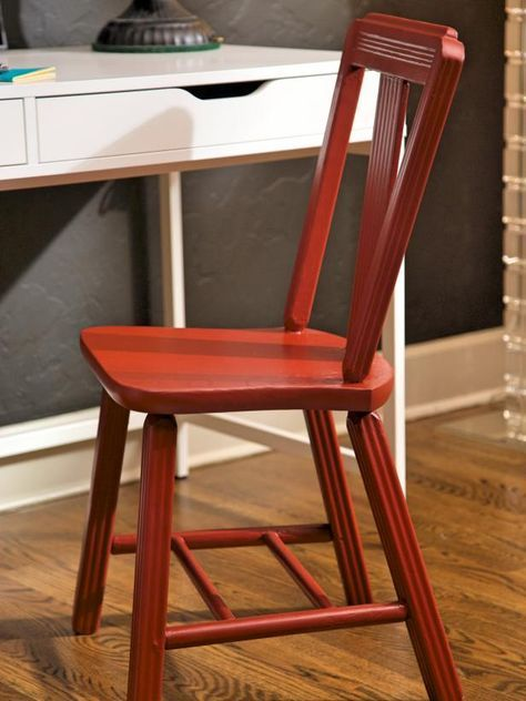 DIY Network has step-by-step instructions on how to strip, sand and repaint an old wood chair.