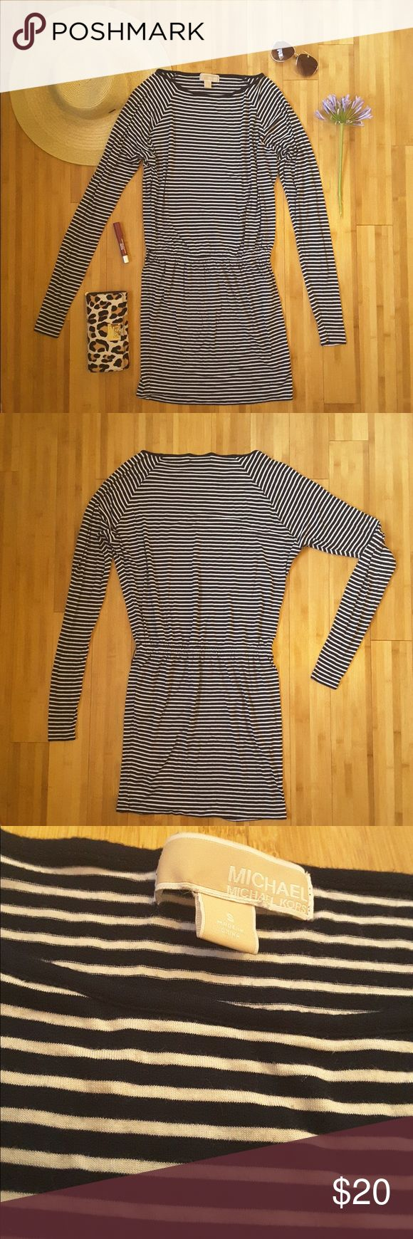 Michael Kors Navy Striped Dress MICHAEL Michael Kors Dress in excellent condition. MICHAEL Michael Kors Dresses Long Sleeve