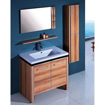 "Legion Furniture 31"" Single Bathroom Vanity Set with Mirror and Cabinet"