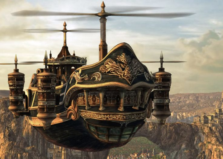 Final Fantasy Steampunk Airship