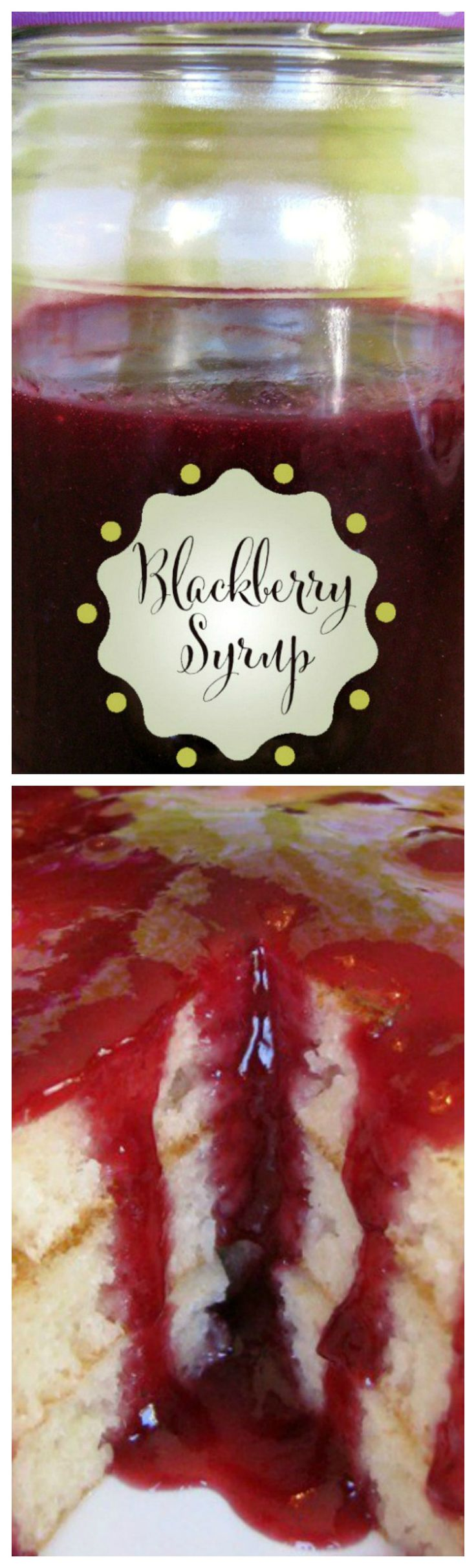 Homemade Blackberry Syrup ~ An easy way to turn berries into a smooth syrup, perfect to jazz up any pancake or waffle even ice cream.