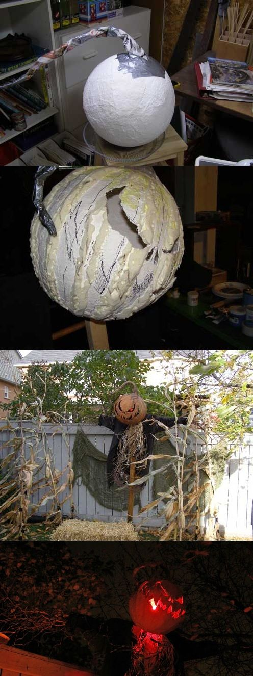 diy front yard scary scarecrow halloween - Scary Diy Halloween Decorations