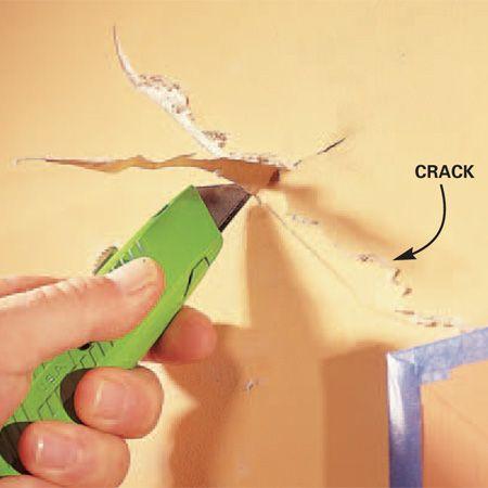 How to repair a drywall crack: Drywall Repair, Repair Drywall, House Development, The Families Handyman, Drywall Crack, The Family Handyman, Best Built House, Diy, Repair Crack