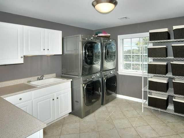 Laundry Room With Double Washer And Dryer Misc Spaces